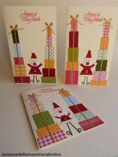 sete modelos cartao natal artesanal presentear amigos familiares papel scrapbook cartolina (5)