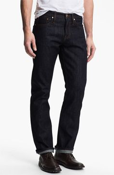 The Unbranded Brand 'UB301' Straight Leg Raw Selvedge Jeans (Indigo)
