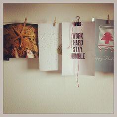 my desk- display rotating kindies art work