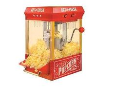 Popcorn Machine Popper Kettle Corn Maker Vintage Home Movie Theater Oil Red Hot