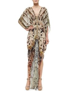 Camilla Printed Beaded Caftan