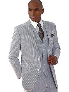 Paul Fredrick Men's Stripe Seersucker Pure Cotton Seersucker Vest at Amazon Men's Clothing store: