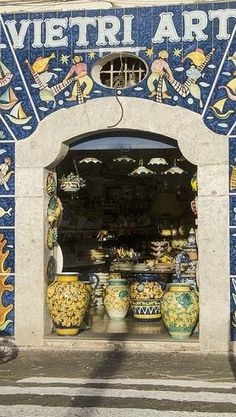 Ceramics Shop in Vietri sul Mare, Amalfi Coast of Italy