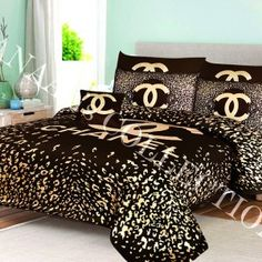 Chanel Bedding, Chanel Bedroom, Luxury Bedding, Bedroom Sets, Bedding Sets, Bedrooms, Teen Room Decor, Home Decor Bedroom, Dream Rooms
