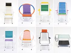 marni: 100 chairs made by colombian ex-prisoners.