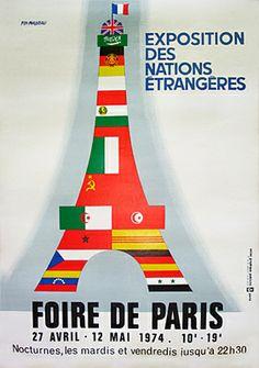 ¤ Pierre Fix-Masseau. Foire De Paris 1974