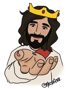 Image may contain: 1 person Jesus Is Life, My Jesus, Bible Art, Bible Quotes, Jesus Cartoon, Jesus Artwork, Christian Artwork, Jesus Painting, Jesus Pictures