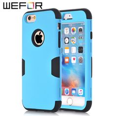 """For iPhone 6 4.7"""" Case,Nice Multi Colors Impact Armor Hard & Soft Rubber Hybrid Case Cover For iPhone 6"""