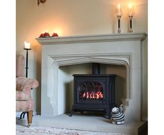 Dovedale fireplace in sandstone