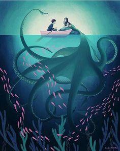 Gorgeous illustration by Jennifer M Potter! Fantasy Kunst, Fantasy Art, Anime Kunst, Anime Art, Anime Neko, Manga Anime, Mermaids And Mermen, Wow Art, Mermaid Art