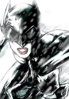 Catwoman Comic Book Art