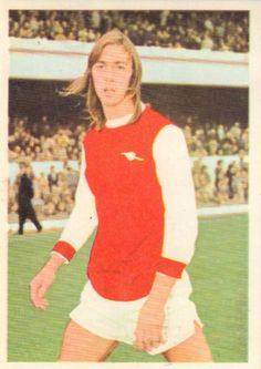 004 - Charlie George (Arsenal) - Midfield or striker and is a local discovery from Islington Schools. Turned professional in February 1968 and made his league debut in August 1969 against Everton. Has subsequently been honoured at Under-23 level by England. Ht. 5ft. 10in. Wt. 11.8.