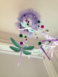 CUSTOM Dragonfly Mobile- Girl, Children's, Baby, Nursery, Birthday Decor, Lavender, Spearmint, Mint, Green, Purple, White, Baby Shower on Etsy, $62.32 AUD