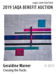 SAQA Benefit Auction Small Quilts, Mini Quilts, Bereavement, Textile Artists, Metallic Thread, Machine Quilting, Art Studios, Silk Fabric, Hand Stitching