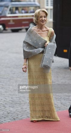 Maria Carmen Cerruti de Zorreguieta, mother of Dutch Princess Maxima, arrives to attend celebrations marking the 40th birthday of Dutch Crown Prince Willem Alexander at the Loo Palace on September 1, 2007 in Apeldoorn, The Netherlands.
