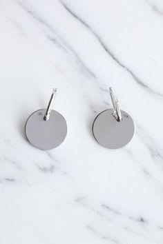 Erin Considine Mini Disc Hoop Earrings | Oroboro Store | Brooklyn, New York