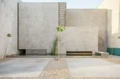 All photos by Leo Espinosa via ArchDaily Though it's built wall-to-wall with the adjacent properties, the Gabriela House in Mérida, Mexico is tucked away from the street thanks to a small square that acts as a buffer between public and...
