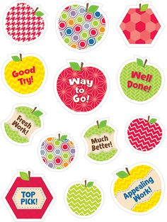 HexaFun Apples Stickers (CTP7152) Give these sweet reward stickers to anyone for a job well done! 65 stickers. #classroom #decor #AILtyler
