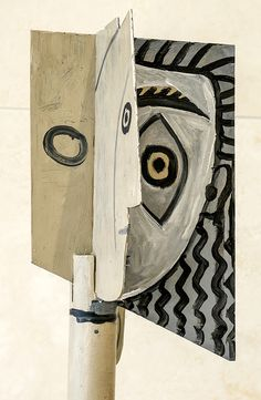 Pablo Picasso (1881-1973), Head of a Woman, 1957. Painted steel.