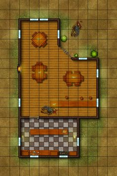 Tactical Map - The Wandering Paladin Tavern by ~DLIMedia on deviantART