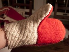 Best most detailed tutorial for recycled sweater mittens. 🔆💡 Sea whale dolphin shark or fun like an Oscar the grouch, Cookie Monster, possibilities are endless Fabric Crafts, Sewing Crafts, Sea Whale, Felted Wool Slippers, Sweater Mittens, Recycled Sweaters, Sewing Projects For Kids, General Crafts, Cookie Monster