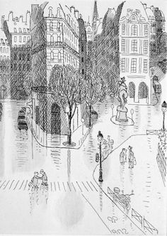 """Jean-Jacques Sempé - """"Paris (passage piéton)""""  Book a room in one of our hotels in #PARIS: HTTP://GREENHOTELPARIS.COM"""