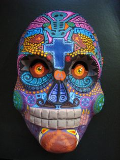 """mexican mask of """"Día de Muertos"""". Mexican masks are used for day of the dead where souls return to Earth."""
