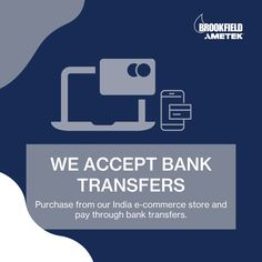 We are now accepting bank transfer payments at our India e-commerce store. Shop for all AMETEK Brookfield instruments, parts, and accessories at store.brookfieldengineering.in Get free shipping on your order. #FreeDelivery Center Of Excellence, India Online, World Leaders, Ecommerce, Logos, Learning, Centre, Instruments, Free Shipping