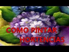 HORTENSIAS -HYDRANGEAS, PINTURA MULTICARGA, PINTURA DECORATIVA - YouTube