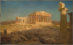The Parthenon Frederic Edwin Church Date: 1871 Medium: Oil on canvas Dimensions: 44 1/2 x 72 5/8 in. (113 x 184.5 cm) Classification: PaintingsArt Object   The Metropolitan Museum Mobile