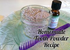 Homemade Tooth Powder recipe- all natural and works great
