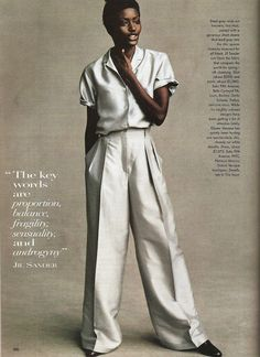 """Jil Sander 1996 """"The key words are proportion, balance, fragility, sensuality, and androgyny"""" ReadySetF a s h i o n: This Is Big News: The Golden Rule"""