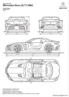 Mercedes-Benz SL? AMG concept Blueprints by ~hanif-yayan on deviantART