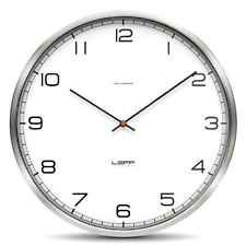 Leff Amsterdam One35 Stainless Steel Radio Controlled UK Wall Clock