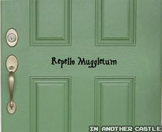 REPELLO MUGGLETUM No Muggles Allowed Funny Harry Potter Decal for Dorms Bedrooms Offices and Front Doors on Etsy, $8.00