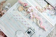 "Design by Kristina Peshko: Шебби альбом для девочки ""Baby Girl"". Альбом для курсов. Shabby chic album for baby girl"