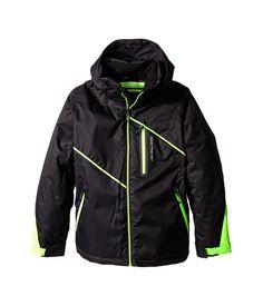 Obermeyer Iconic Boys Xl Jacket Blk/green.