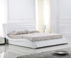 uncategorized-new-model-white-leather-bed-frame-design-inspiration-with-cozy-white-headboard-and-soft-tan-mattress-also-beautiful-white-scheme-style-low-profile-bed-design-with-leather-beds-600x491.jpg (600×491)