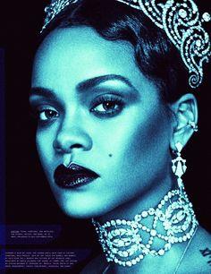 "celebritiesofcolor: ""Rihanna for W Magazine """