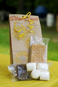 Home-made S'mores wedding favors :)