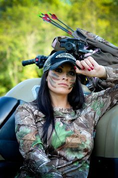 Bow hunting has become one of the absolute loves of my life. If it's not deer season I am bow fishing, froging, turkey hunting, or just at target practice. My new goal is training my young gelding for mounted shooting. I have recently been fortunate enoug Bow Hunting Women, Hunting Girls, Hunting Bows, Archery Girl, Archery Hunting, Archery Bows, Coyote Hunting, Pheasant Hunting, Outdoor Girls