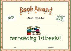 Ten Books Reading Award
