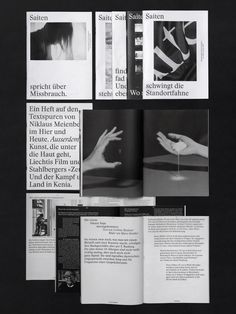 Modern midcentury inspired black and white print and graphic design inspiration. A clean and minimalist magazine design. V Magazine, Magazine Design, Graphic Design Magazine, Graphic Design Layouts, Graphic Design Inspiration, Ppt Design, Editorial Design, Editorial Layout, Typography Layout