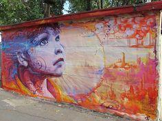 Vibrant collection of fresh colour dope street art & hot graffiti colour. See more fresh graffiti, dope graffiti, wicked graffiti on Mr Pilgrim online Best Street Art, Amazing Street Art, 3d Street Art, Street Artists, Murals Street Art, Street Art Graffiti, Reverse Graffiti, Urban Graffiti, Of Montreal