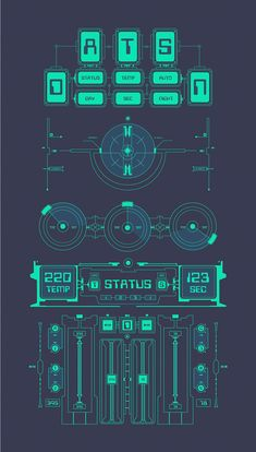 HUD UI for business app. Futuristic user interface. on Behance