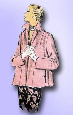 1950s Original Gorgeous Advance Swingback Coat Pattern Sz 30 B | eBay
