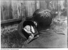 WW1. Soldier with woman's picture in his hat, 1916. - City of Toronto Archives, Fonds 1244, Item 829.