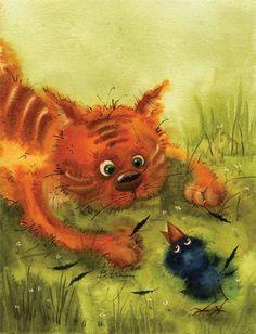 Illustration by Viktoria Kirdiy   Кадмий оранжевый