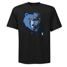 Zach Randolph Memphis Grizzlies NBA Game Face T-shirt by Majestic