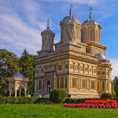 Passed by this in the night...curtea de arges monestary.  The city we stayed in overnight. I do regret not seeing it.